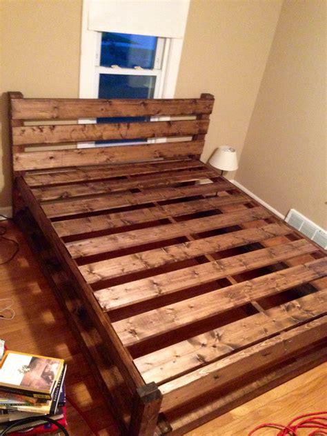 Diy Wooden Bed Frame With Storage