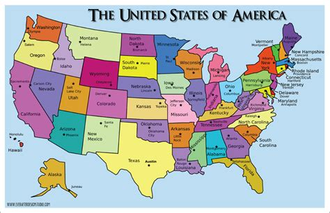 all states in usa us states map with capitals and abbreviations 2017