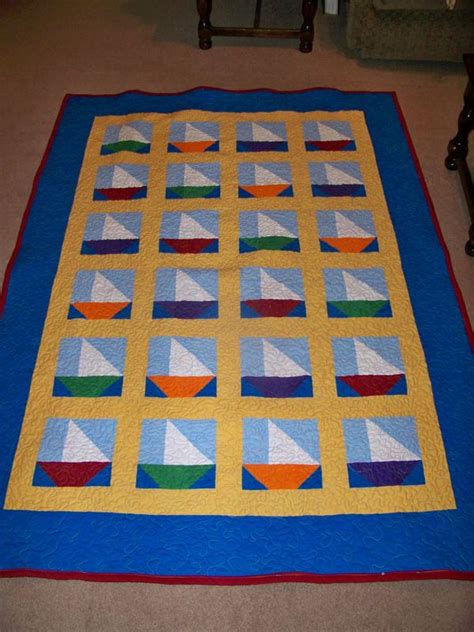 Sail Boat Quilt by Grandson S Sailboat Quilt Is Finally Done