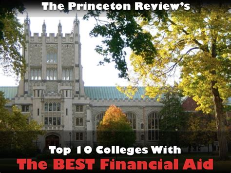 Top Mba Programs Princeton Review by Top 10 Colleges With The Best Financial Aid