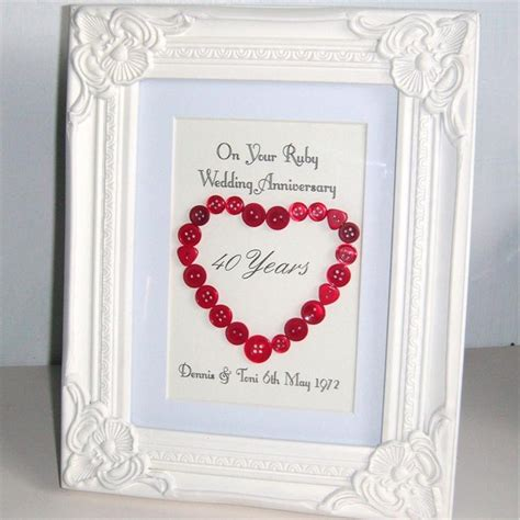 Wedding Anniversary Gifts Ruby by Ruby Wedding Anniversary Gift Craft Ideas