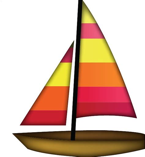 sailboat emoji quot sailboat emoji quot stickers by caroline voigt redbubble