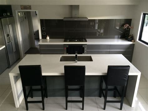 waterfall stone bench tops joinery kitchen projects arthur brown construction