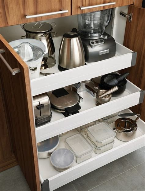 how to organize the small appliances in the kitchen room