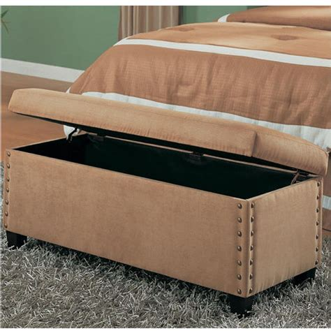 nailhead storage bench lewis upholstered storage bench with nailhead trim buy now