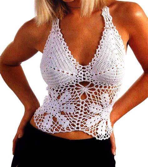 revista de crochet para este ao 2016 todo patrones patron de top en color blanco tejido en crochet patrones