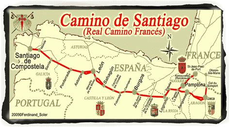 camino de santiago route map camino de santiago 800 project map of the route