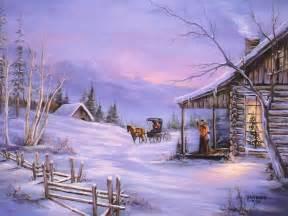 Christmas art 06 christmas winter scenes wallpaper image