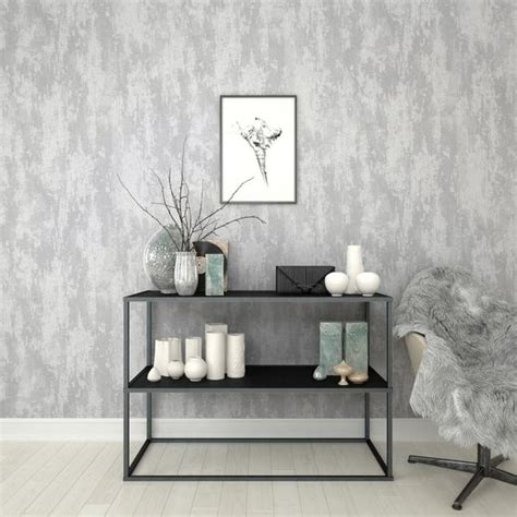 graham brown wallpaper industrial texture silver