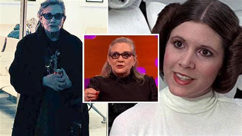 actor last video last pictures of carrie fisher show the princess leia