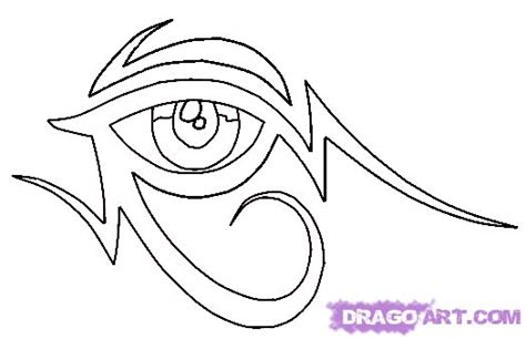 easy tattoo step by step how to draw a tribal egyptian eye tattoo step by step