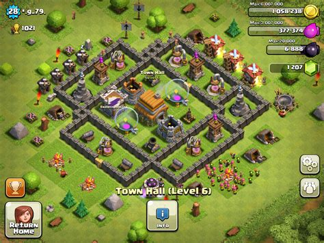 layout of coc town hall 6 town hall level 6 layout www imgkid com the image kid
