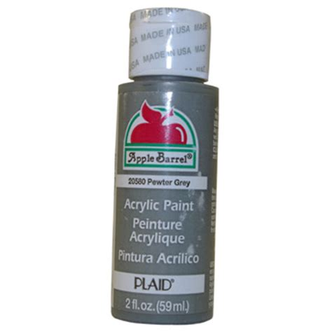 acrylic paint grey apple barrel matte pewter grey acrylic paint 2 oz bottle