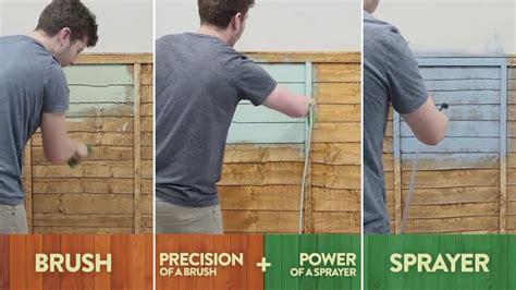 cuprinol spray  brush shed fence sprayer youtube