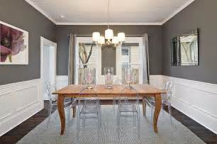 Chair Rail Height In Nursery - 25 elegant and exquisite gray dining room ideas