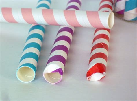 How To Make Paper Straws - filled straws sweet simple stuff