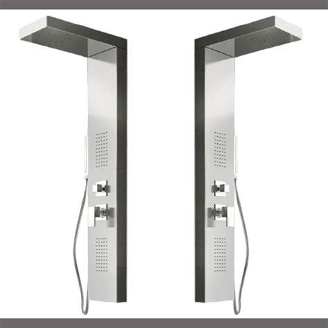 doccino doccia pannello colonna doccia idromassaggio acciaio inox lucido