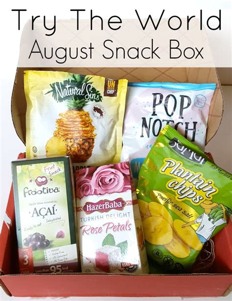 Home Decor Subscription Box try the world snack box august 2016 review