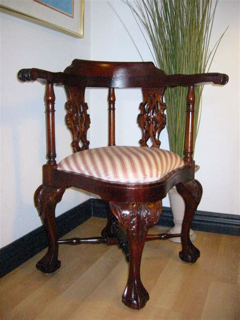 antique corner for sale george ii style mahogany corner updated upholstery
