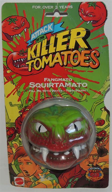 killer tomato toys scarce mattel fangmato squirtamato attack of the killer