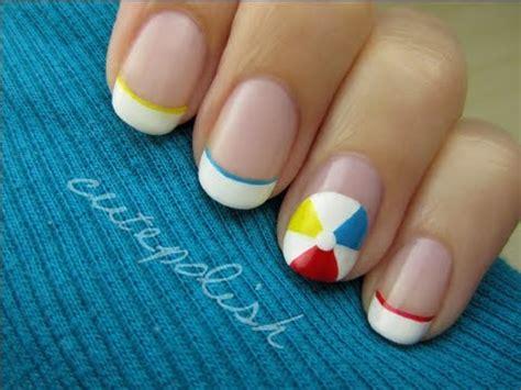 easy nail art by cutepolish beach ball nail art youtube