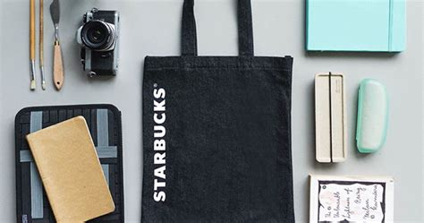 Tote Bag Denim Starbucks this starbucks black denim tote bag is yours with every 25 spent at their stores great deals