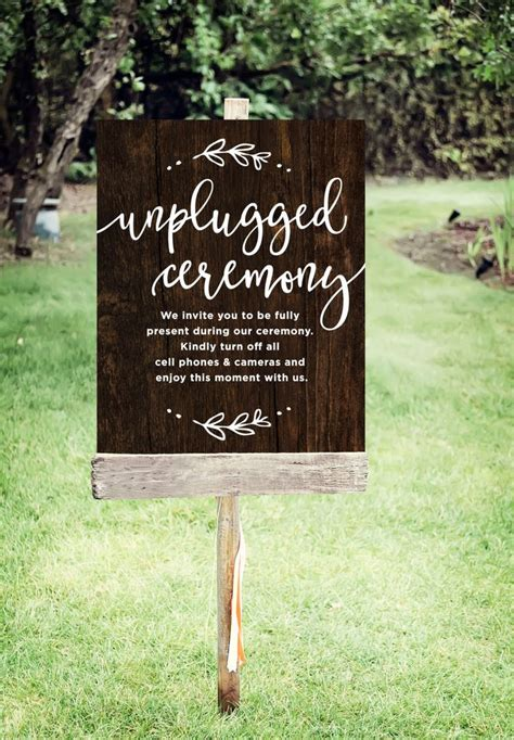 No At Your Wedding Our One by Best 25 Unplugged Wedding Sign Ideas On