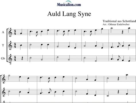 valzer delle candele spartito auld lang syne arr by othmar endelweber anonymus