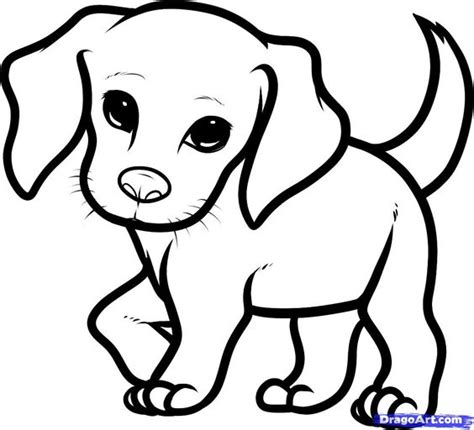 how you draw a cute dog how to draw a beagle puppy