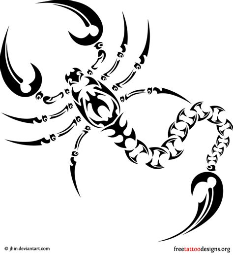 Scorpion Tribal Outline by 99 Scorpion Tattoos Scorpio Designs