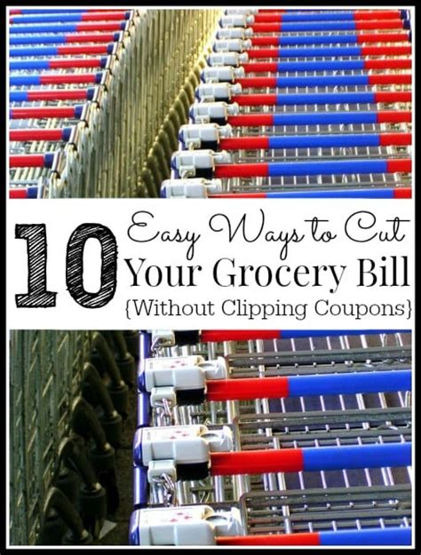 easy ways  cut  food budget   coupons