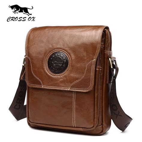 New Arrival Christian Bag cross ox 2017 summer new arrival s shoulder bag genuine wax leather messenger bags for