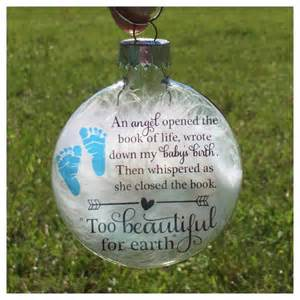 Infant Loss Ornament Baby Memorial Ornament Miscarriage Keepsake Baby Loss