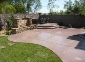 backyard concrete patio ideas concrete patio design ideas and cost landscaping network