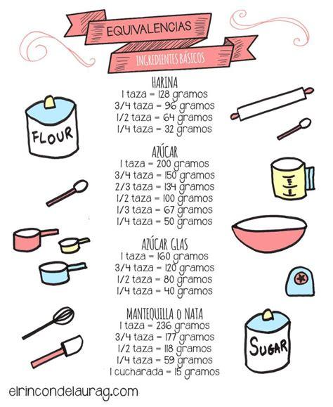 equivalencias cocina equivalencias en la cocina pasar de tazas a ml o gramos