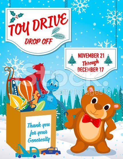 Toy Drive Poster Template Ideal For Any Charity Or Fundraiser That School Holiday Drives Toys For Tots Email Template
