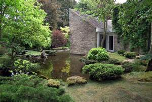 Stone Wall Mural japanese garden in shipton under wychwood