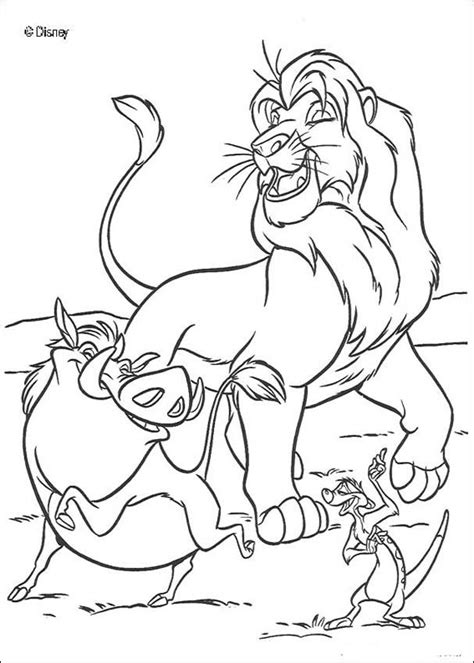 singing simba timon and pumbaa coloring pages hellokids com