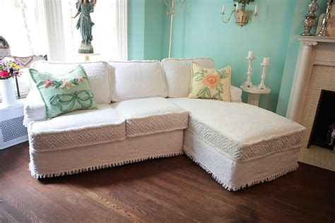 Shabby Chic Sectional Sofa Vintage By Vintagechicfurniture Shabby Chic Sectional Sofa