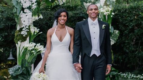 raye wedding dress nba player westbrook and westbrook gets married you ll never believe what he wore sportsnation espn