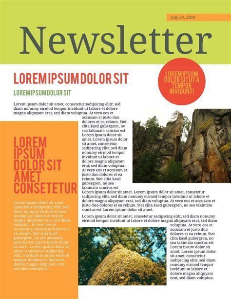 printable newsletter templates examples lucidpress