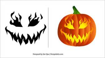 free printable scary pumpkin carving pattern designs scary pumpkin patterns bbt