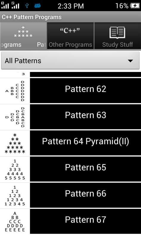 pattern type c program c pattern programs android apps on google play