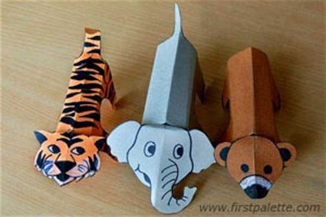 How To Make Animals Out Of Paper - print out colour cut out and fold these printable zoo