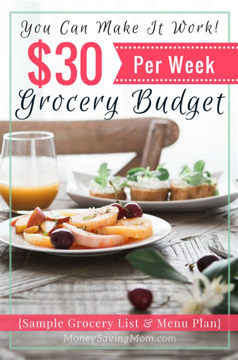 survive     week grocery budget