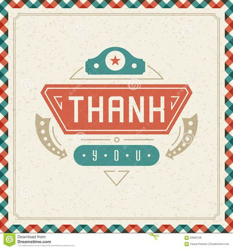 Vintage Note Card Template by Thank You Typography Message Vintage Greeting Card Stock