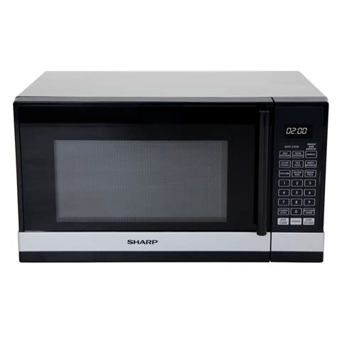 Tv Sharp Mini sharp r240ys 800w black silver compact microwave at the