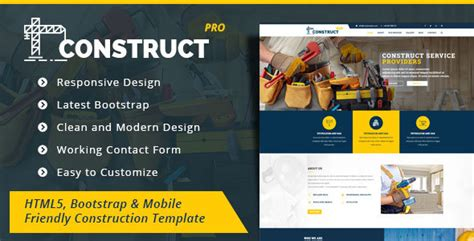 Construction Html5 Construction Business Template By Zozo Pro Themeforest Best Construction Website Templates