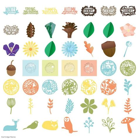 cricut home decor cartridge 55 best cricut 4 seasons home decor images on pinterest