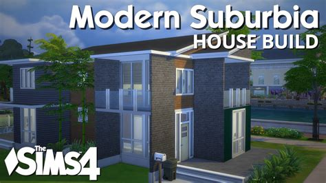the sims 4 house building modern suburbia youtube